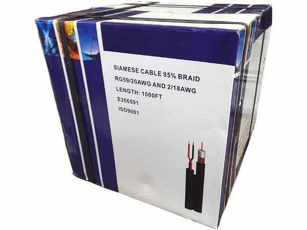 1000 Ft Rg59 Siamese Cable