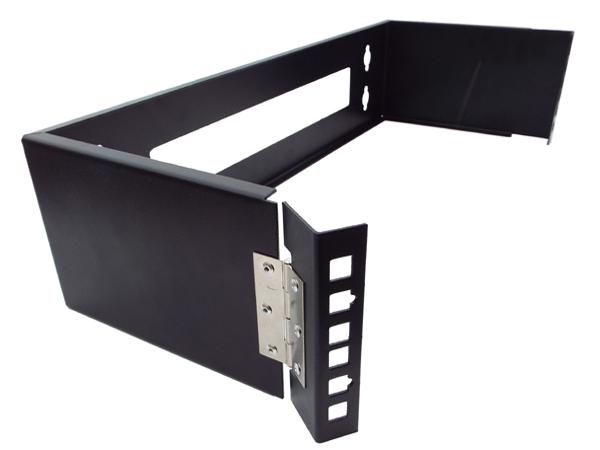 2u 19 inch hinged network wall mount equipment rack