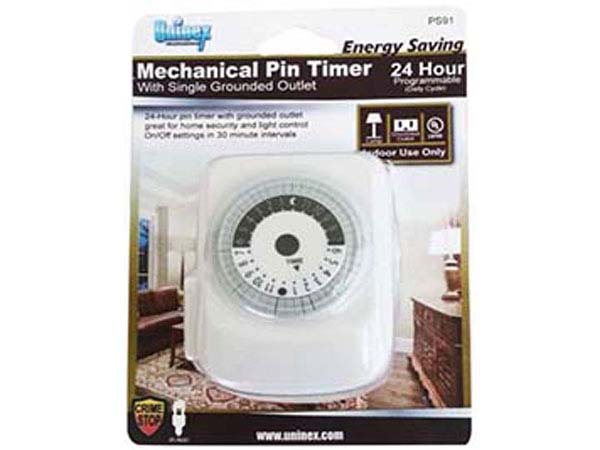how to use mechanical outlet timer