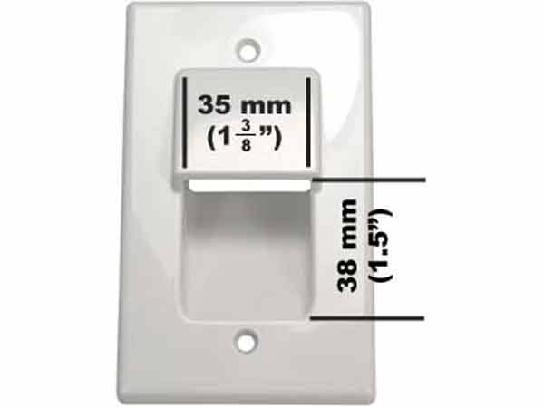 1 Gang Recessed Wall Plate White