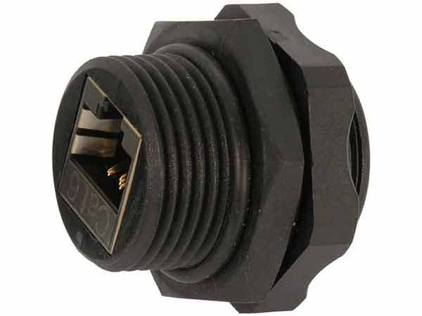 Cat6 Rj45 Shielded Industrial Panel Mount Bulkhead Coupler
