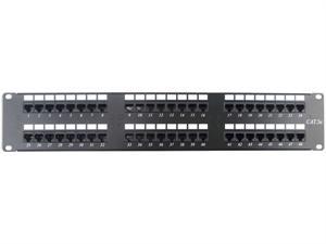 48 port cat6 rack mount patch panel - 2u