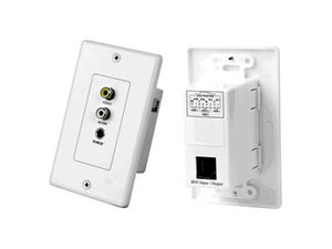 Cat5e Audio Video Power Home Theater Wall Plate Extender